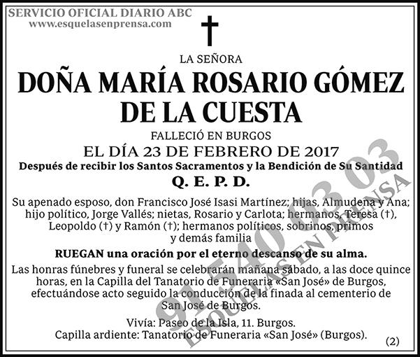 María Rosario Gómez de la Cuesta